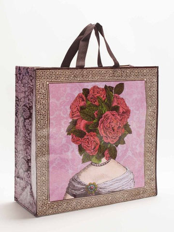 "Flower Heads Shopper Bag 15""h x 16""w Eco Tote"