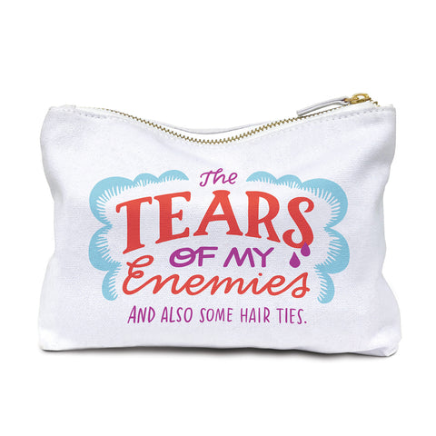 The Tears Of My Enemies Cotton Canvas Cute/Cool/Unique Zipper Pouch/Bag/Clutch/Cosmetic Bag