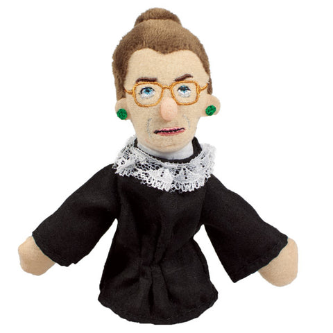 Ruth Bader Ginsburg Refrigerator Magnet and Finger Puppet Mini Doll