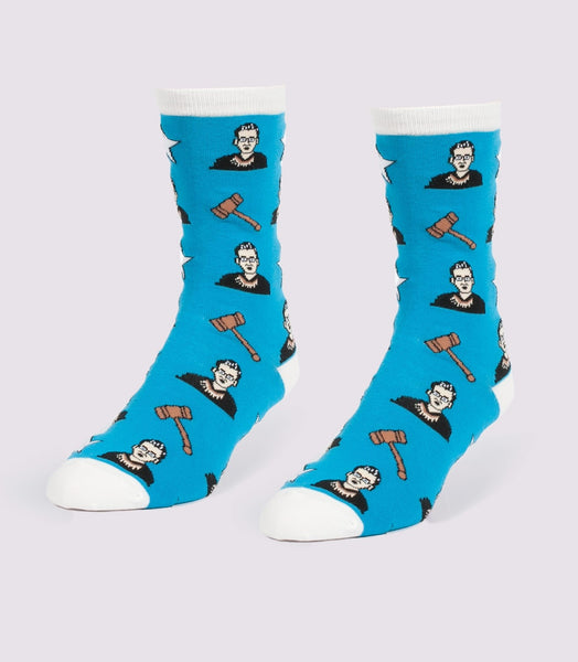Ruth Bader Ginsburg Women's Crew Socks in Blue