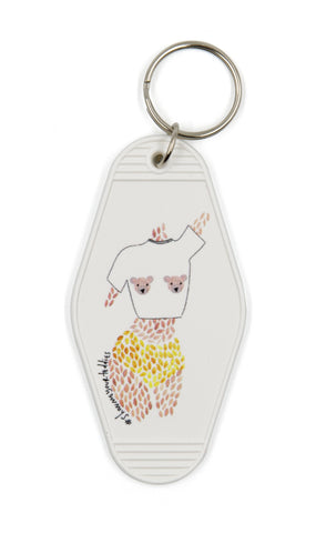 Show Me Your Teddies Motel Style Illustrated Keychain