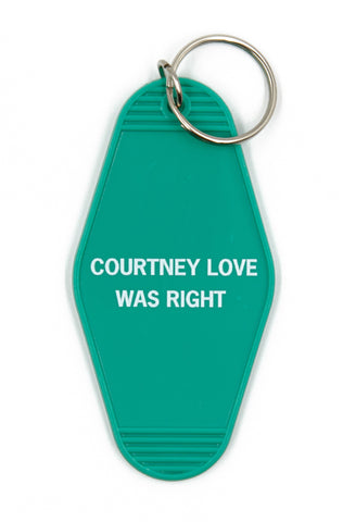 Courtney Love Was Right Motel Style Keychain In Green