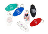 Hip Hip Hooray Graphic Motel Style Illustrated Keychain