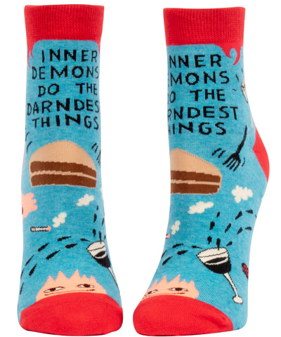 Inner Demons Do The Darndest Things Women's Ankle Socks