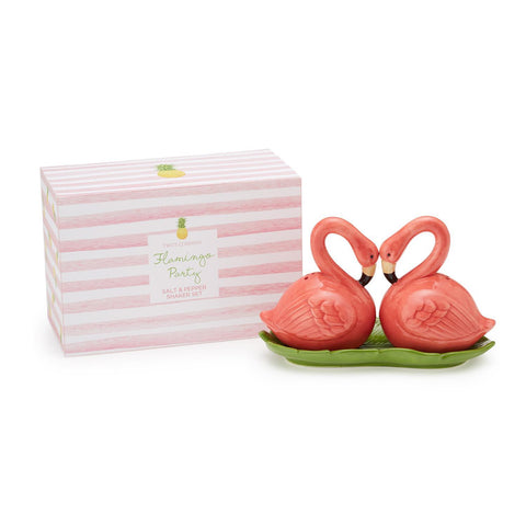 Flamingo Party Salt & Pepper Shaker Set in Gift Box