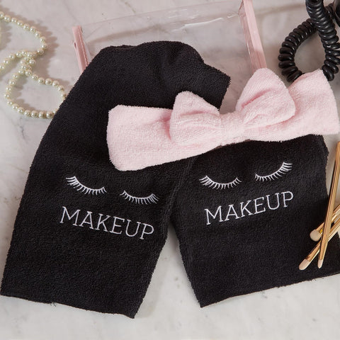 Makeup Removal Kit - 2 Towels and 1 Headband in a Gift Bag