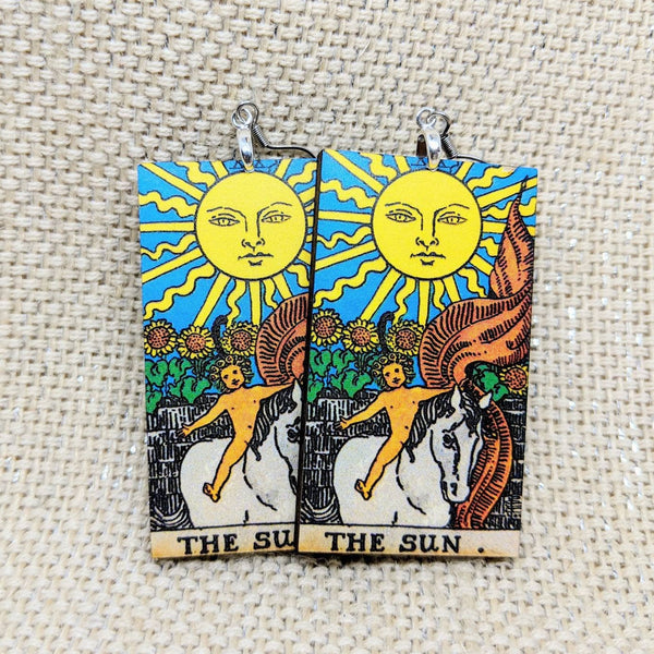 The Sun Tarot Card Earrings