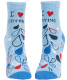 I Heart Crying Women's Ankle Socks, Hipster/Nerdy/Geeky/Trendy, Funny Novelty Socks with Cool Design, Bold/Crazy/Unique Half Dress Socks