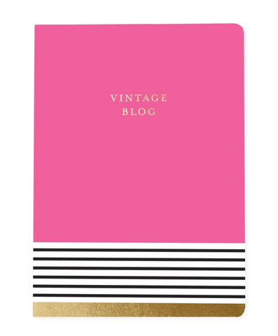 Vintage Blog Soft Cover Journal in Pink