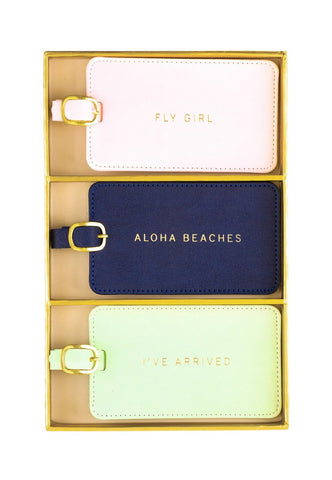 Luggage Tag Set of 3 (Fly Girl, Aloha and I've Arrived)