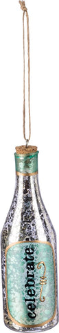 Celebrate Champagne Bottle Holiday Ornament