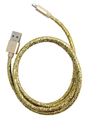 USB Gold Glitter Cable for iPhone™