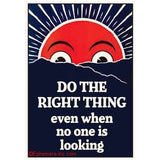 "Do The Right Thing Even When No One Is Looking Magnet | 2"" x 3"""