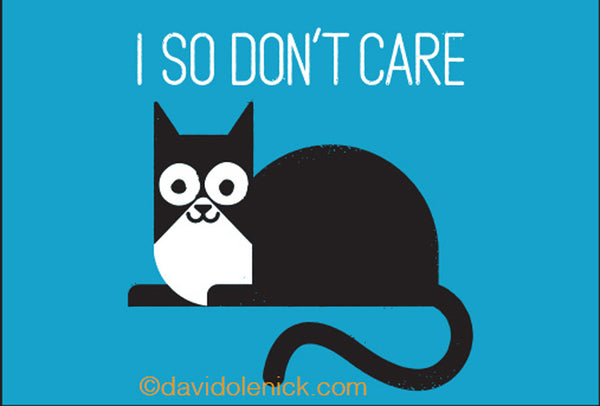 "I So Don't Care Cat Magnet | 2"" x 3"""