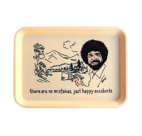 There Are No Mistakes Just Happy Accidents Bob Ross Trinket Tray