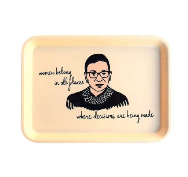 Women Belong In All Places Ruth Bader Ginsburg Trinket Tray