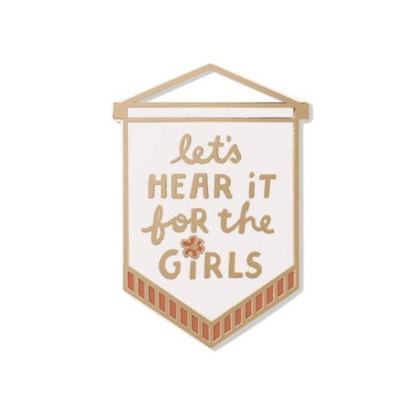 Let's Hear It For The Girls Enamel Pin in Wall Decor Design