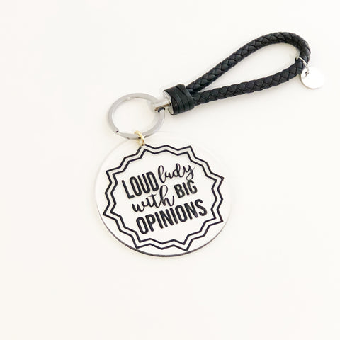 The Golden Type - Loud lady with big opinions keychain, accessories