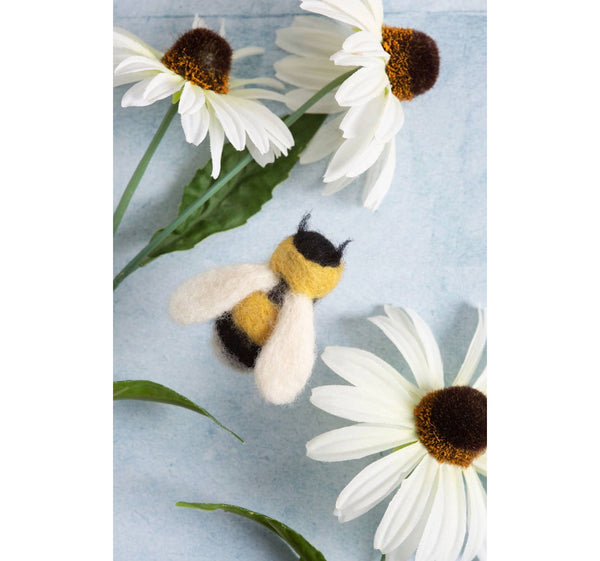 Bee Brooch Modern Craft Felting Kit | Made in the UK