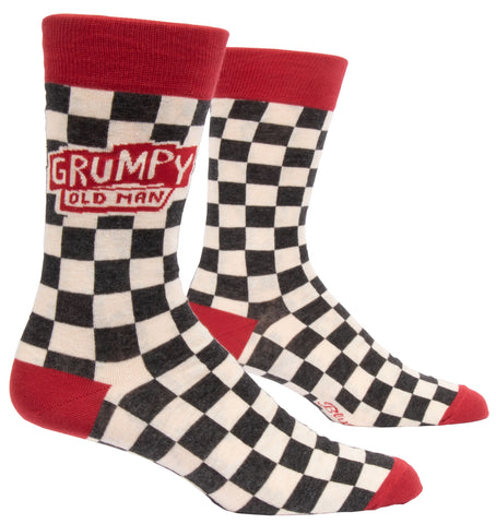 Grumpy Old Man Men's Crew Socks, Hipster/Nerdy/Geeky/Trendy, Funny Novelty Socks with Cool Design, Bold/Crazy/Unique Pattern Dress Socks