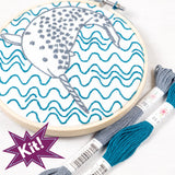 "Narly Narwhal 5"" Embroidery Kit"