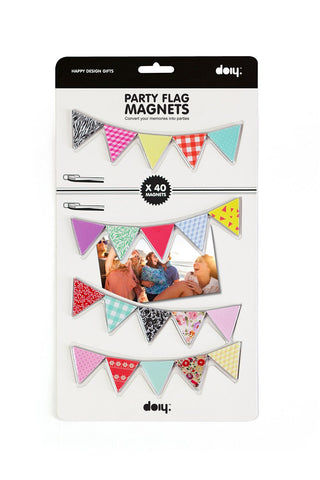 Party Flag Decorative Magnets