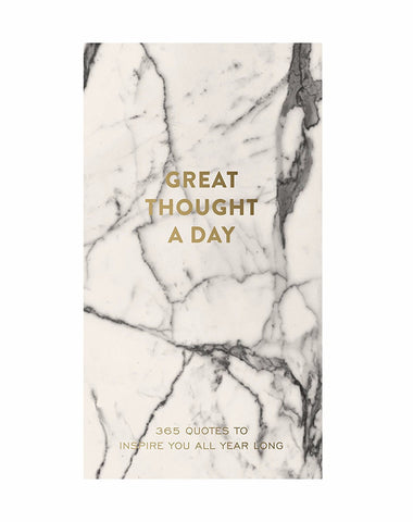 Great Thought A Day Inspirational Notebook in Marble