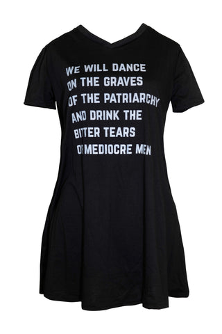 LAST CALL! SIZES S & XL ONLY - We Will Dance on the Graves of the Patriarchy V-Neck Pocket Dress