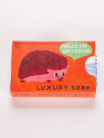 Last Call! Antisocial Soap in White Tea and Violet (Hedgehog)