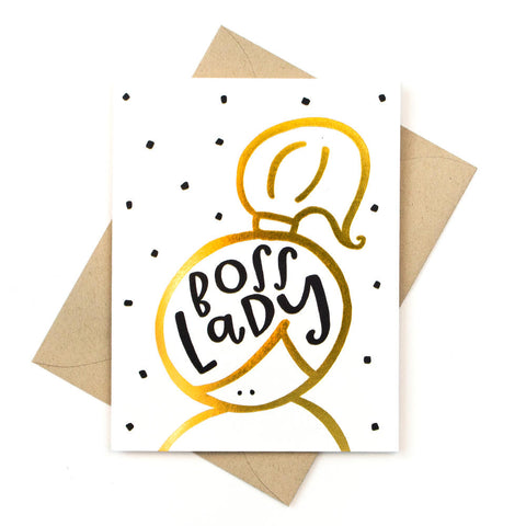 Boss Lady Gold Foil Card