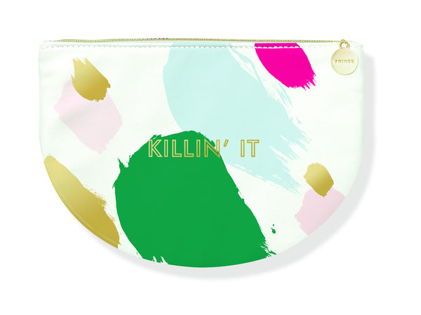 Killin' It Rounded Colorful Multicolor Cute/Cool/Unique Zipper Pouch/Bag/Clutch/Cosmetic/Makeup Bag