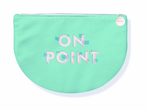 On Point Rounded Green Pink Cute/Cool/Unique Zipper Pouch/Bag/Clutch/Cosmetic/Makeup Bag
