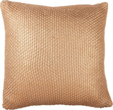 "Copper Foil Square Throw Pillow | 18"" Square 