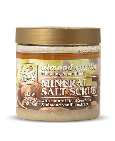 Dead Sea Salt Scrub Almond Vanilla with Aromatic Oil