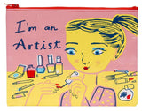 I'm An Artist Recycled Material Cute/Cool/Unique Zipper Pouch/Bag/Clutch/Cosmetic Bag