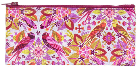 Last Call! Six And A Half Birds Pink Purple Recycled Material Cute/Cool/Best Zipper Pencil Case/Pouch/Holder/Pen Bag/Holder