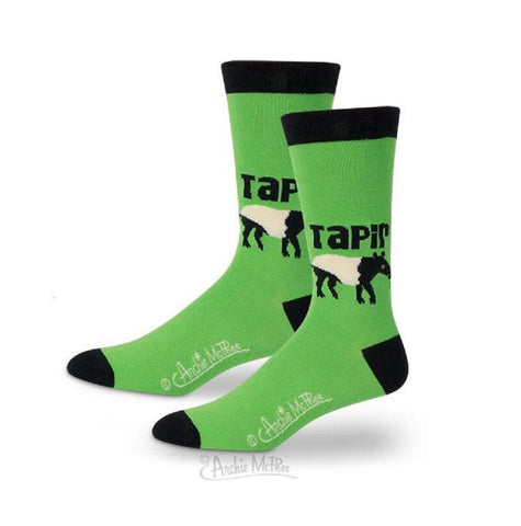 Tapir Men's Socks in Green and Black