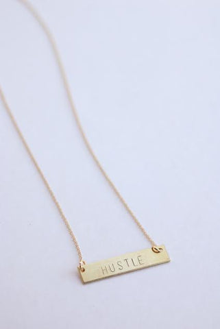 The Betty Collection: Hustle Necklace in Brass