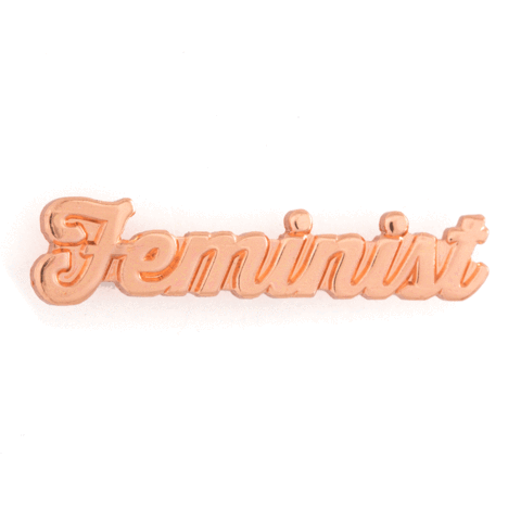 Feminist Rose Gold Enamel Pin