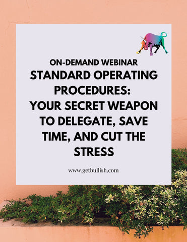 Webinar: Standard Operating Procedures: Your Secret Weapon to Delegate, Save Time, and Cut the Stress