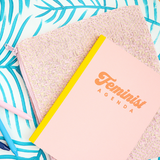 Feminist Agenda Notebook in Peach