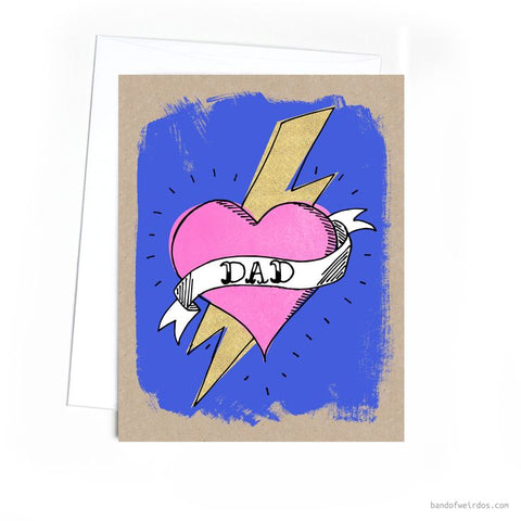 Dad Tattoo Father's Day Greeting Card