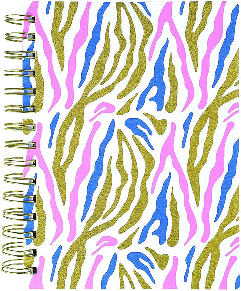 Zebra Medium Spiral Vegan Leather Journal
