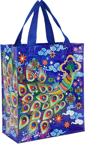 Peacock Handy Tote Recycled Material
