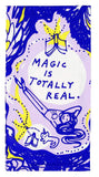 Magic Is Totally Real Screen-Printed Blue Cat Girl Dish Cloth Towel / Novelty Tea Towels / Cute / Bright / Unique Kitchen Hand Towel