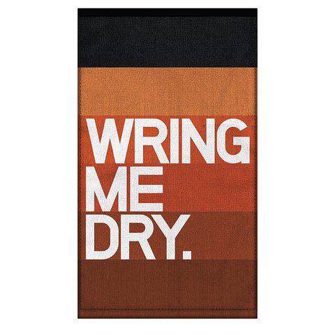 "Wring Me Dry Multi-Use ""Dirty"" Towel in Orange Rust Ombre"