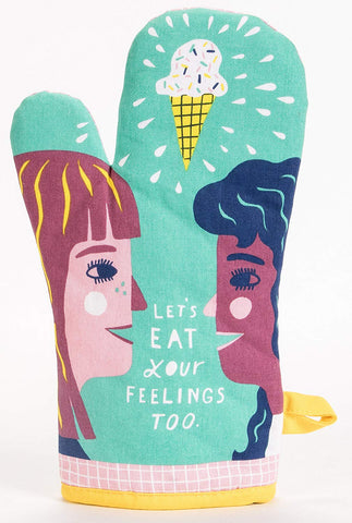 Let's Eat Your Feelings Too Oven Mitt in Couple and Ice Cream