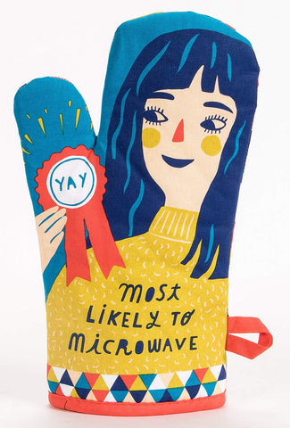 Most Likely to Microwave Oven Mitt in Girl with Colorful Design