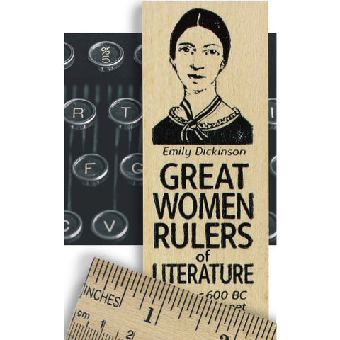 Emily Dickinson Great Women Rulers of Literature Wooden Ruler