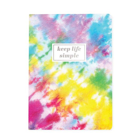 "Keep Life Simple Tie Dye Soft Cover Journal | 200 Pages | Lined | 6"" x 8.25"""
